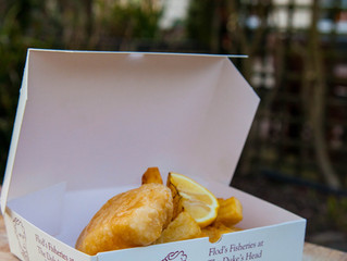 Our famous fish now comes boxed for you