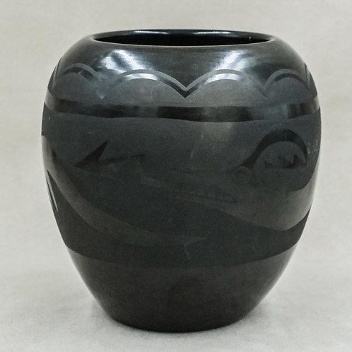 San Ildefonso Avanyu Pot by Unknown Artist