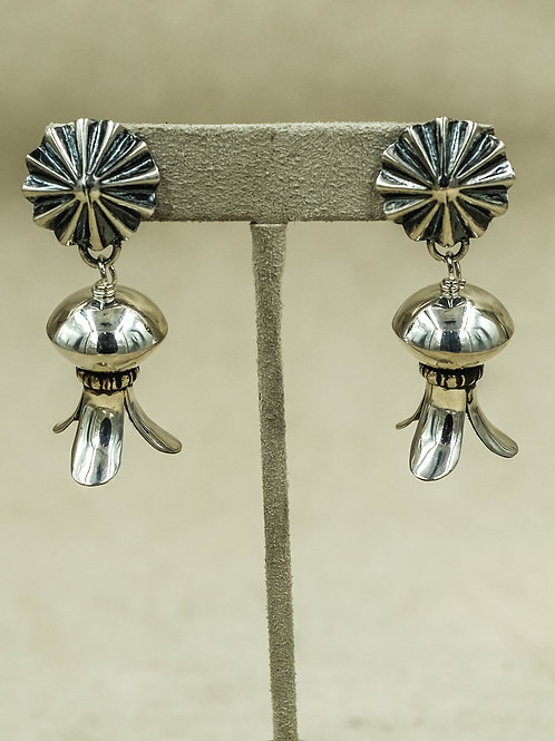 Sterling Silver Concho w/ Small Blossoms by Shoofly 505