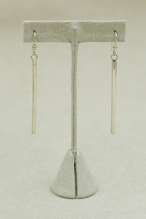 "Sterling Silver Straight 1/2"" Earrings by Jacqueline Gala"