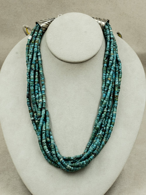 7 Strand Tibetan Turquoise Necklace by Richard Lindsay
