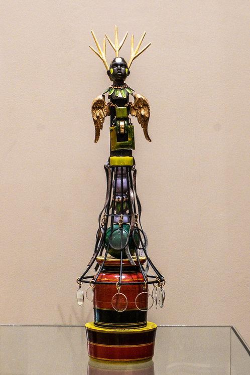 Mixed Media Sculpture w/ Clay Bakelite, & Enamel by Melanie DeLuca