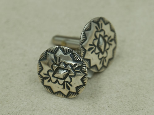 Sterling Silver Concho Cufflinks