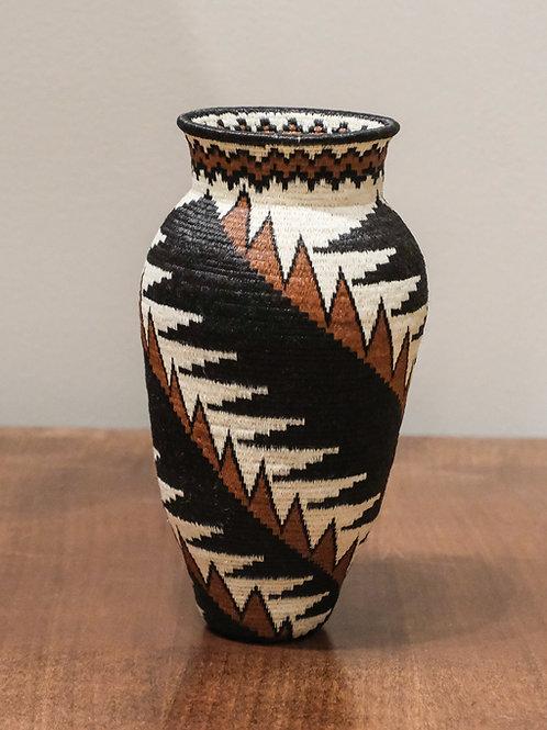 Brown Feathers Wounaan Basket