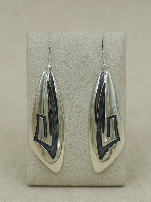 "Sterling Silver ""Lightning"" Earrings by Anderson and Berna Koinva"