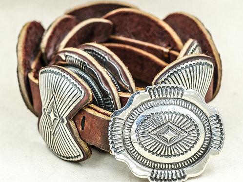 Navajo Stamped Concho Belt