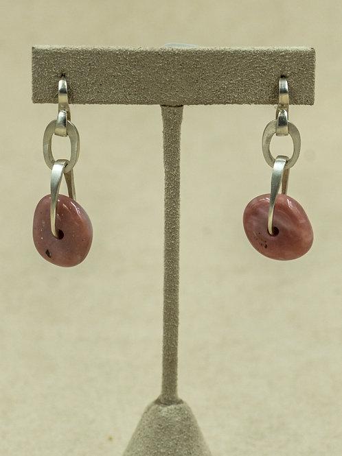 Sterling Silver w/ Pink Peruvian Opal Earrings by Reba Engel