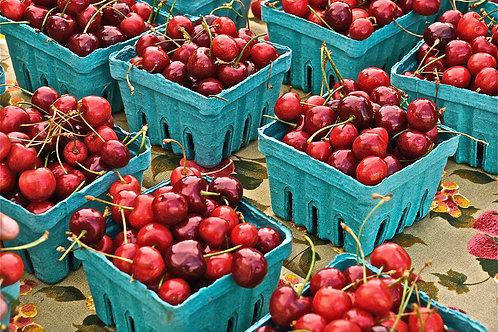 New Crop Of Sweet Cherries, Santa Fe Farmers' Market