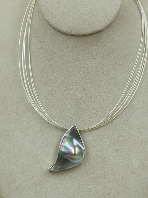 SS Hi-Grade w/ Mabe Pearl & Sterling Silver Easy Clasp by Michele McMillan