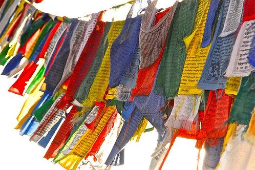Tibetan Prayer Flags - Santa Fe, New Mexico