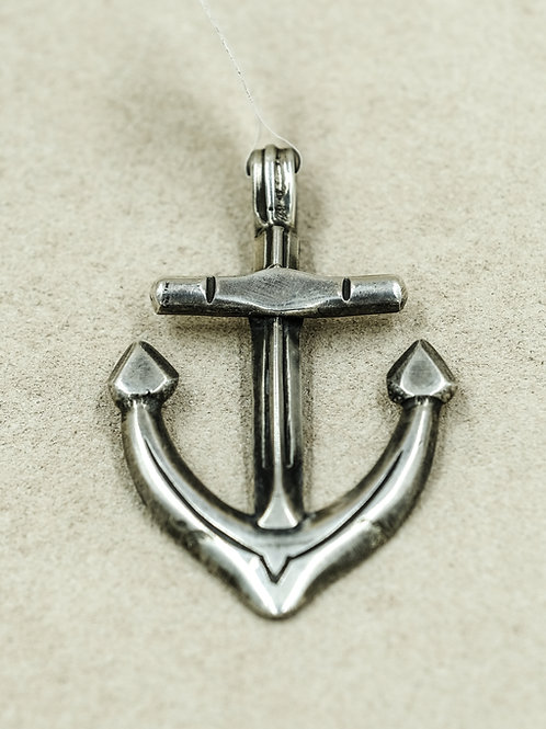Sterling Silver Ingot Anchor Pendant by Buffalo