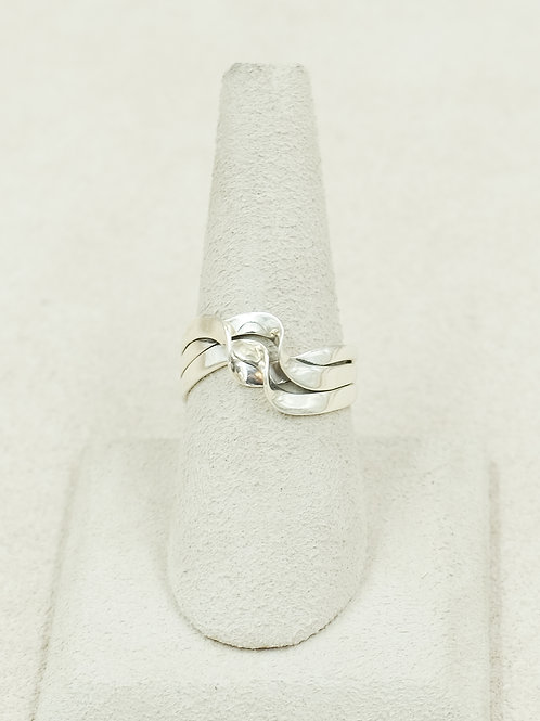 Sterling Silver Triple Wave 6x Ring by Cheryl Arviso