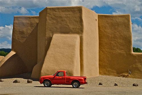 Best Parking Space at the St. Francis de Asis Church: Ranchos de Taos, NM
