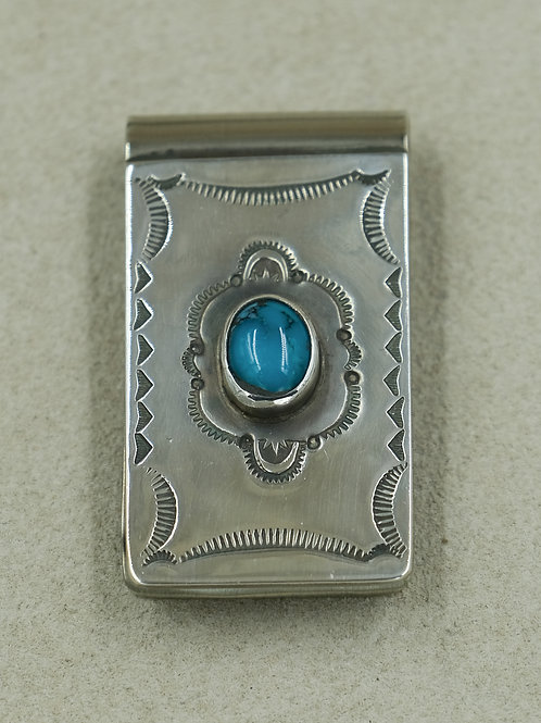 Sterling Silver & Turquoise Money Clip