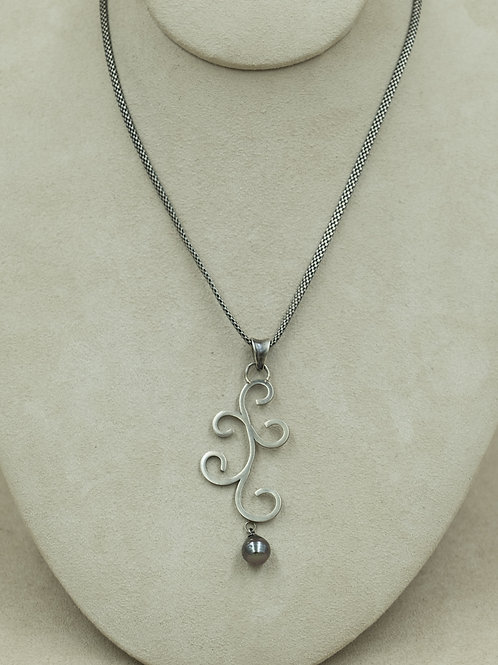 SS w/ Sea Pearl Pendent on Sterling Silver Chain by Michele McMillan