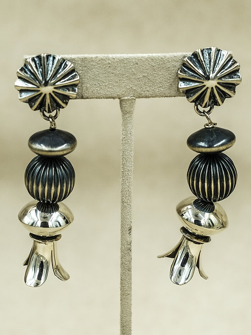 Sterling Silver Oxidized Concho w/ Blossoms by Shoofly 505