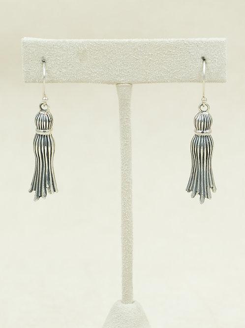 Sterling Silver Tassel Earrings by Roulette 18