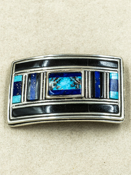 Lapis, w/ Mineral Park Kingman Turquoise Buckle by Jonathan Loretto