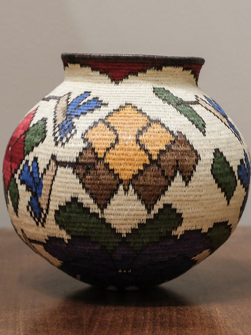 Floral Wounaan Basket
