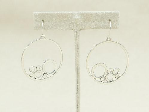 Sterling Silver w/ Bubbles Earrings by Roulette 18
