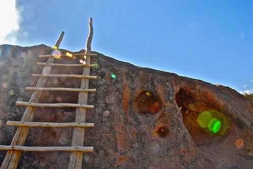 Tsankawi Ruins Ladder: Bandelier National Monument