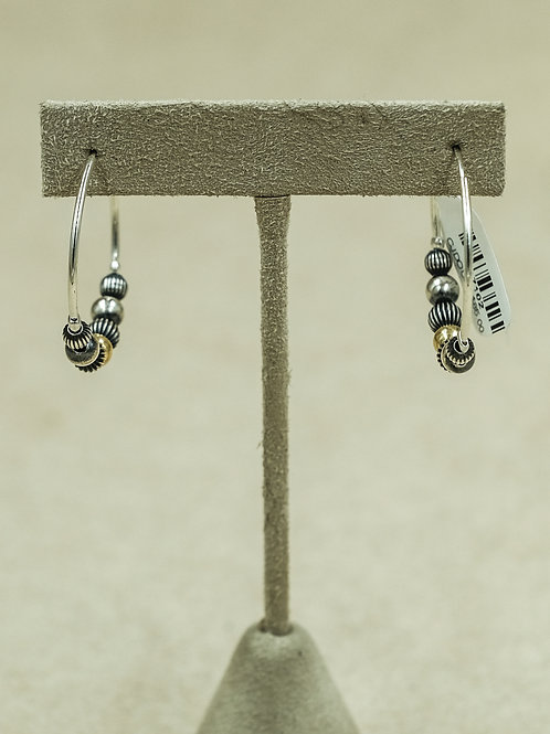 Sterling Silver Medium Hoops w/ Assorted Beads Earrings by Shoofly 505