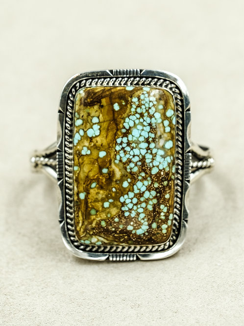 Sterling Silver #8 Turquoise Stone by Park Elkin Sr. (Chickasaw)