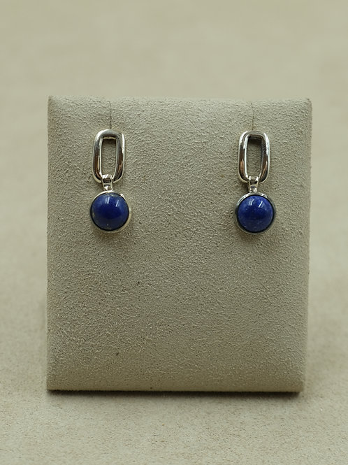 Sterling Silver Lapis Earrings by Sanchi and Filia
