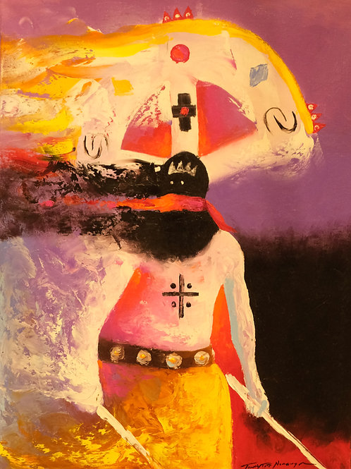 """Enchanted Spirit"" Oil on Canvas - 24"" x 18"" - Tim Nevaquaya"