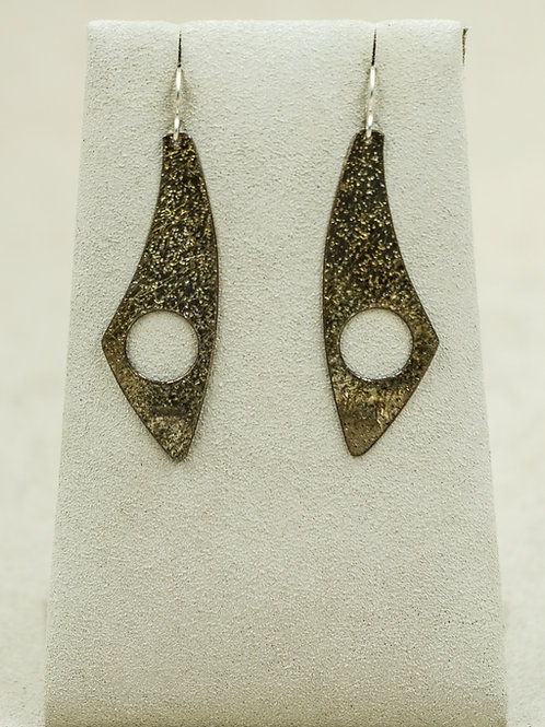 Sterling Silver Colored Oxidized Wire Earrings by Althea Cajero