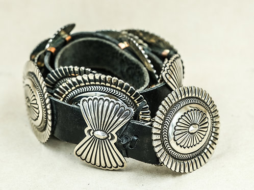 Navajo Sterling Silver Butterfly Concho Belt
