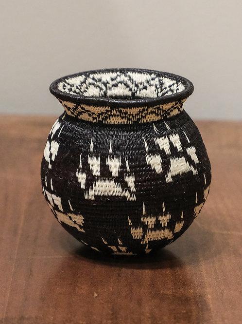 White Paws on Black Wounaan Basket