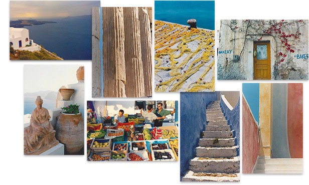 Boxed Set of 16 GREECE Greeting Cards