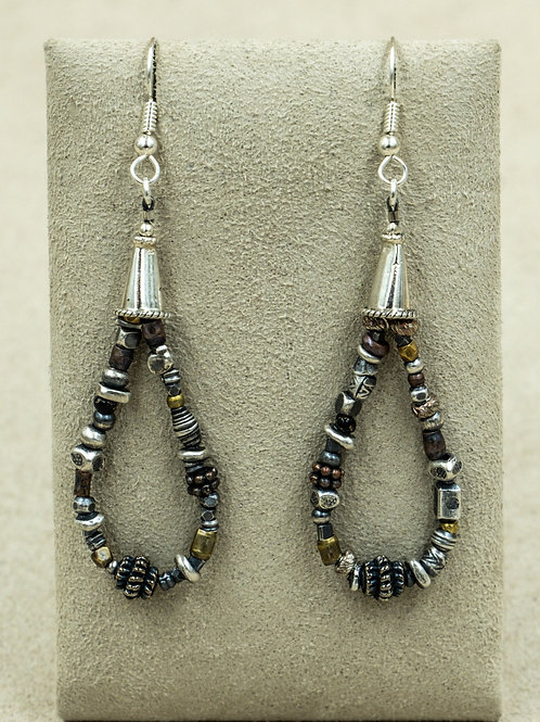 Sterling Silver w/ Jacla Style Mixed Metal Bead Earrings by Richard Lindsey