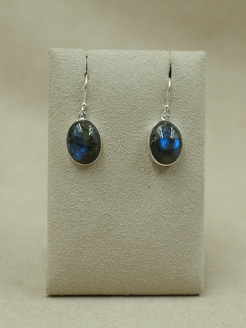 Sterling Silver Labradorite Earrings by Sanchi and Filia