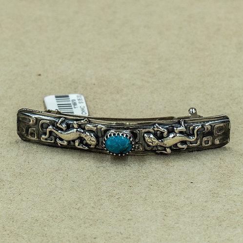 Sterling Silver Nacozari Turquoise Barette by Michele McMillan
