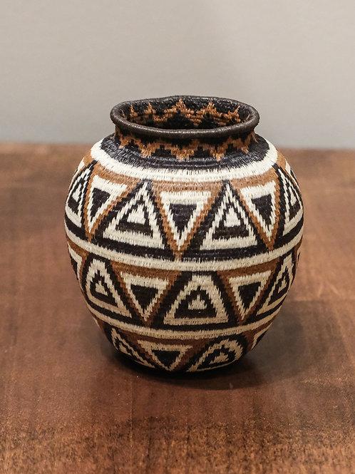 Black & Brown Triangles Wounaan Basket