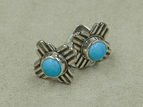 Sterling Silver Zia Sleeping Beauty Turquoise Cufflinks