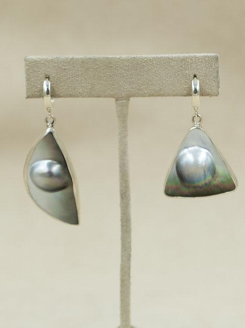 Sterling Silver w/ Mabe Pearl Earrings by Michele McMillan