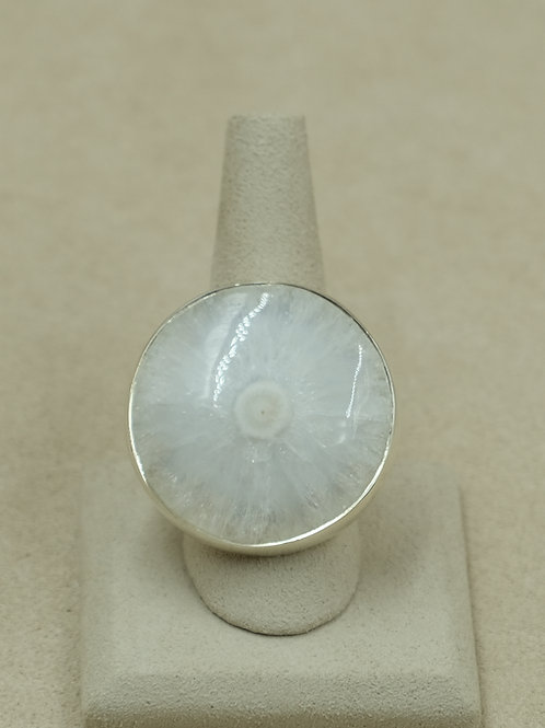 Sterling Silver and Solar Quartz 10x Ring by Sanchi and Filia