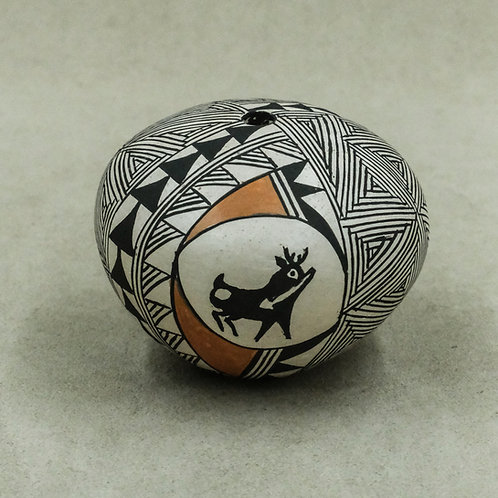 Small Acoma Seed Pot by Carrie C Charlie