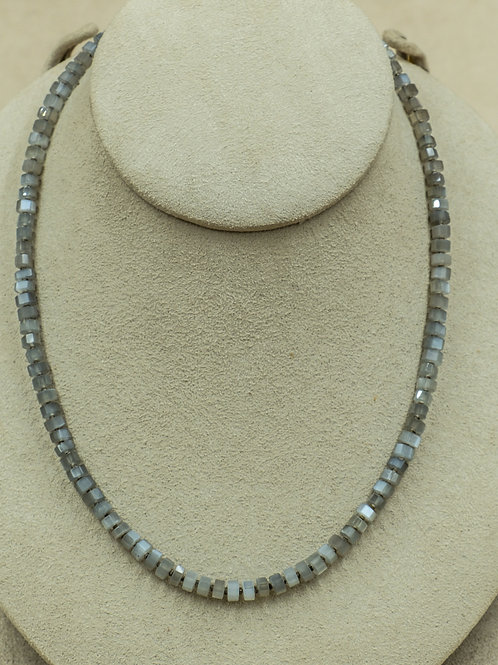 Sterling Silver with Gray Moonstone Necklace by Reba Engel