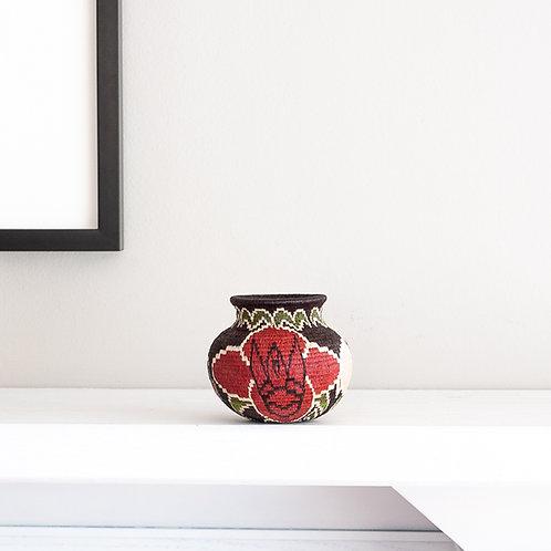 Flowers on Black Wounaan Basket