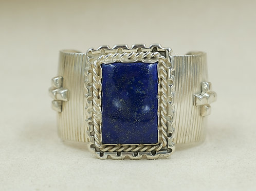 Sterling Silver Lapis Cuff by JP Arviso