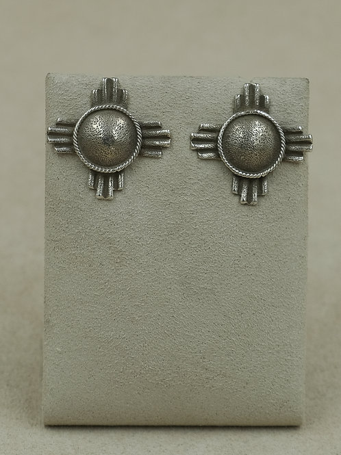 Sterling Silver Zia Posts Earrings by Gregory Segura