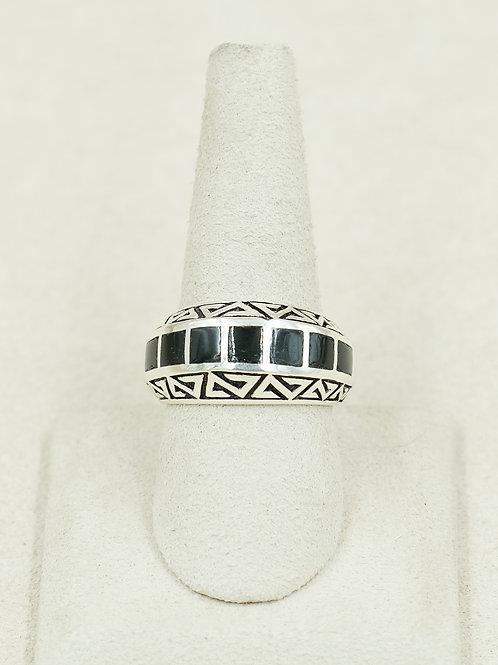 Onyx 7 Stone Pottery Design 10x Ring by Michael & Melanie Kirk-Lente