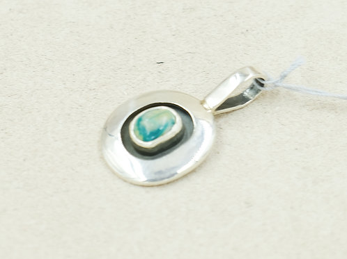 Sterling Silver & Fox Turquoise Shadow Box Pendent by Cheryl Arviso