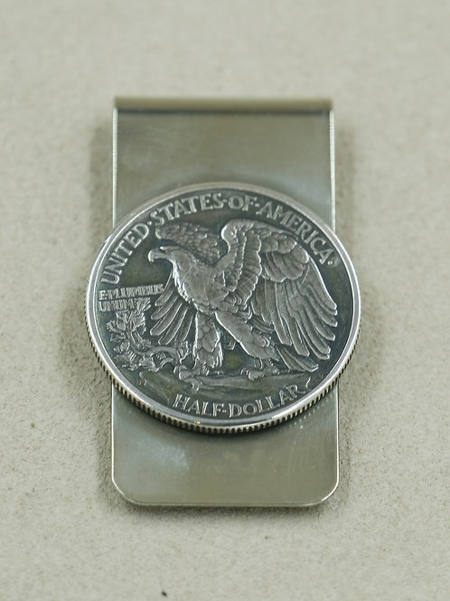 Eagle Side Walking Liberty Stainless Steel Money Clip