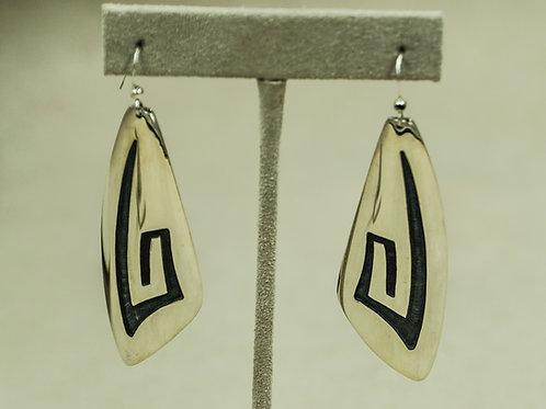 Sterling Silver Lightning Earrings by Anderson & Berna Koinva