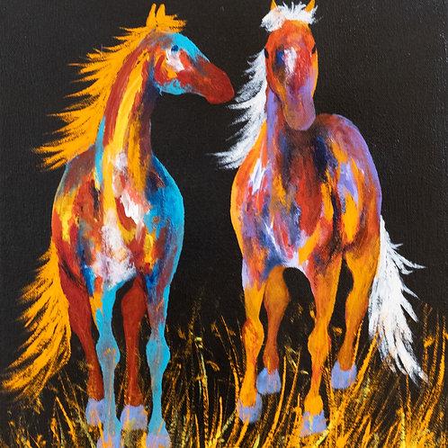 """Hey, I Have a Secret"" - Acrylic on Canvas - 15""x 13"" by John Saunders"